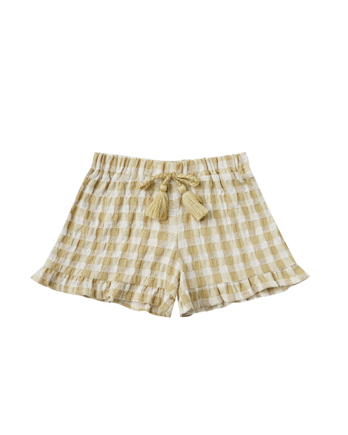 Little rylee + cru girl gingham ruffle short