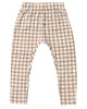 Little rylee + cru boy grid cru pant in bronze