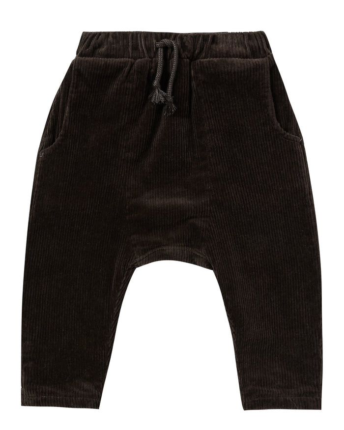 Little rylee + cru baby girl hawthorne trouser in vintage black