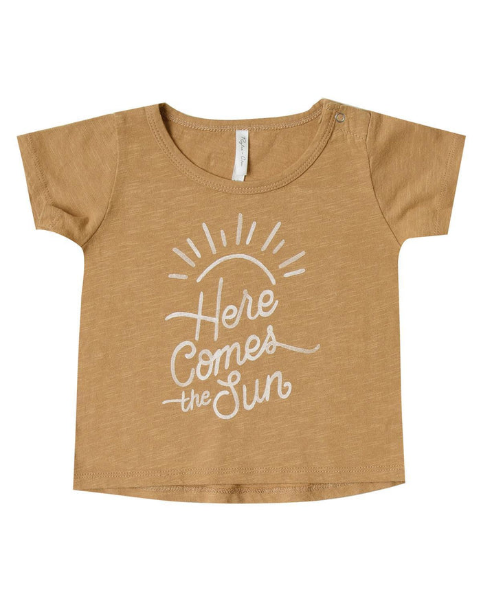 Little rylee + cru baby boy 0-3 here comes the sun basic tee