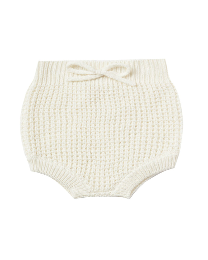 Little rylee + cru baby girl knit bloomer in ivory