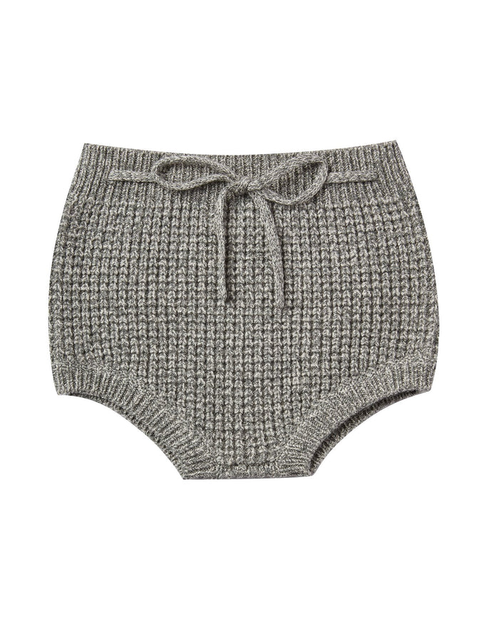Little rylee + cru baby girl knit bloomer in washed indigo