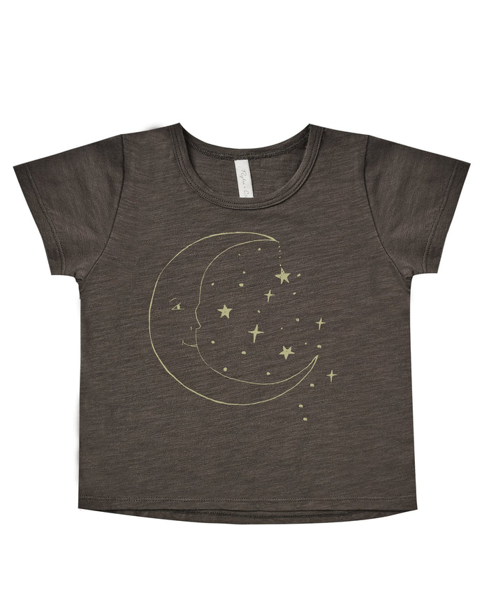 Little rylee + cru girl la luna basic tee in vintage black