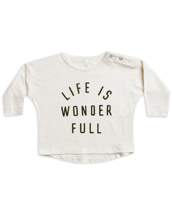 Little rylee + cru baby girl life is wonder full baby longsleeve tee