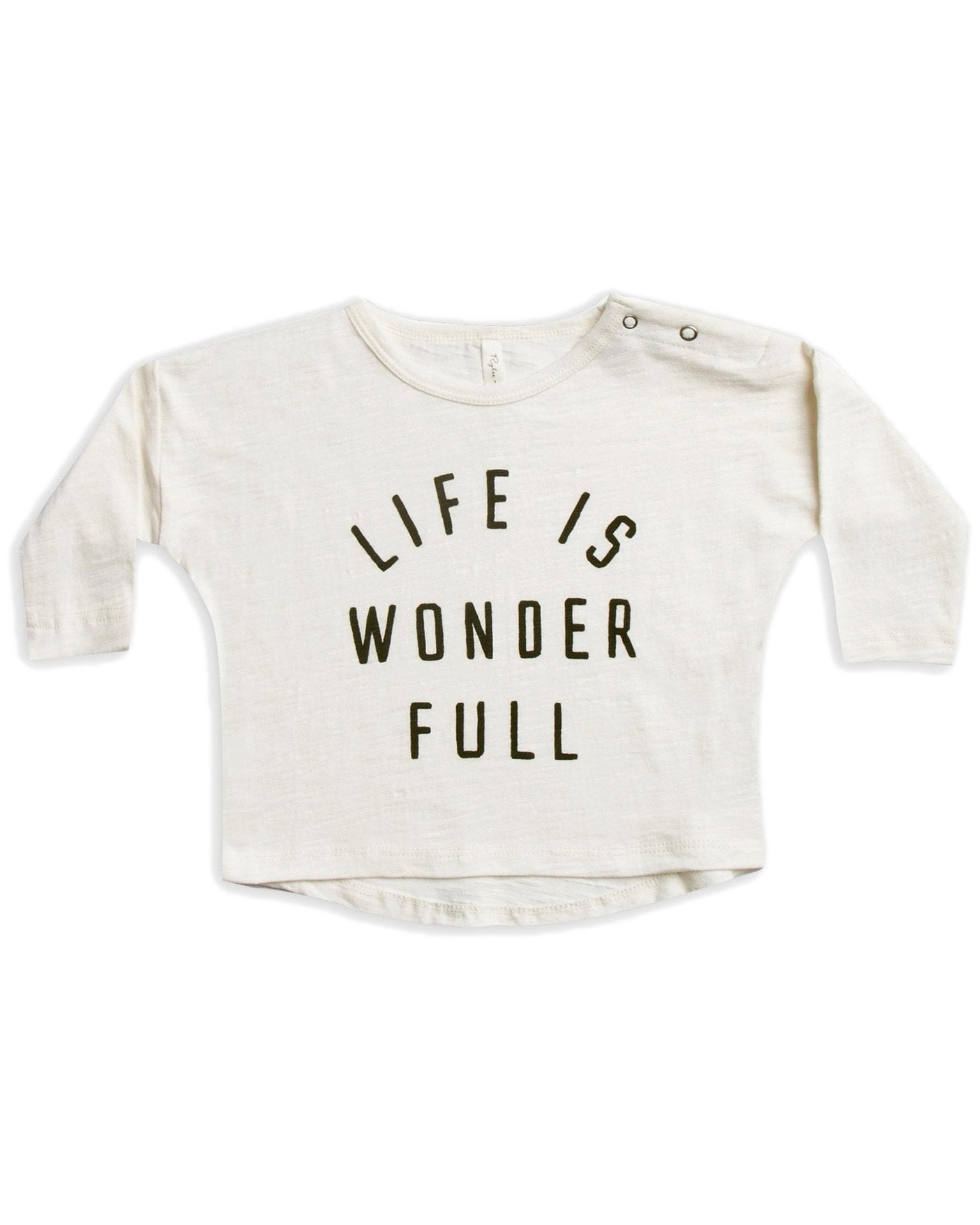 Little rylee + cru girl life is wonder full longsleeve tee
