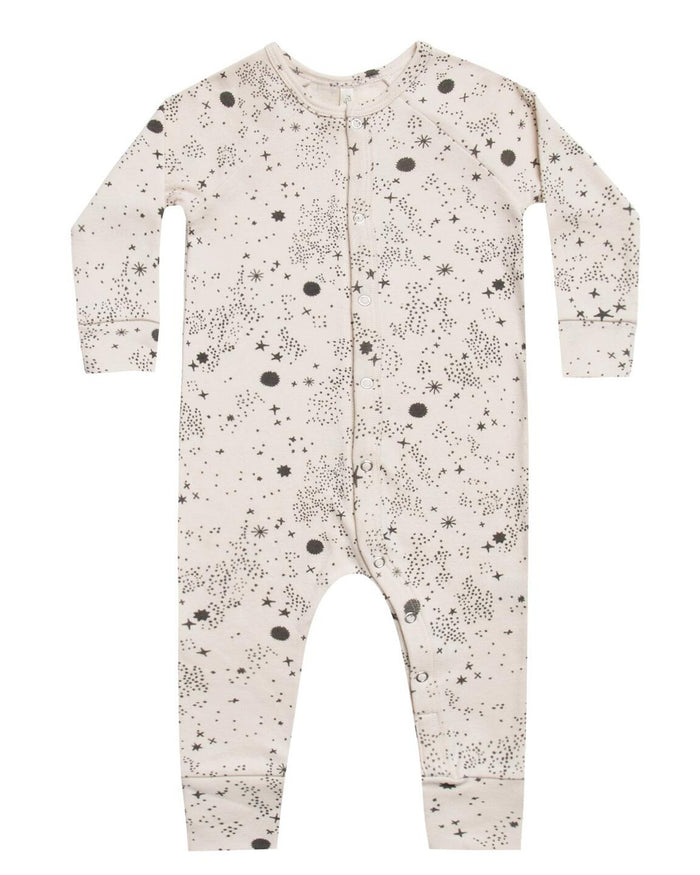Little rylee + cru baby girl longjohn in stardust