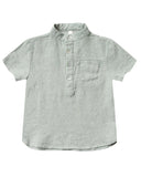 Little rylee + cru baby boy mason shirt in seafoam