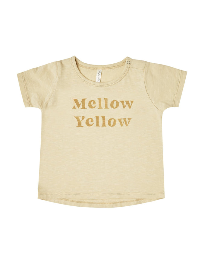 Little rylee + cru girl mellow yellow tee in butter