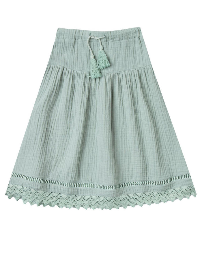 Little rylee + cru girl 2-3 mila maxi skirt in seafoam