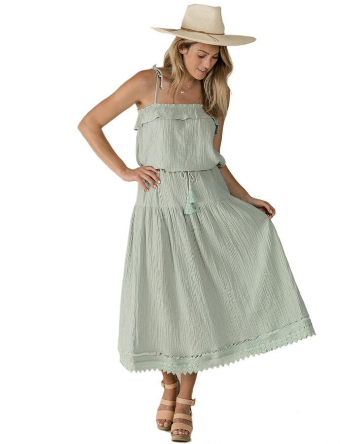 Little rylee + cru women xs mila maxi skirt in seafoam