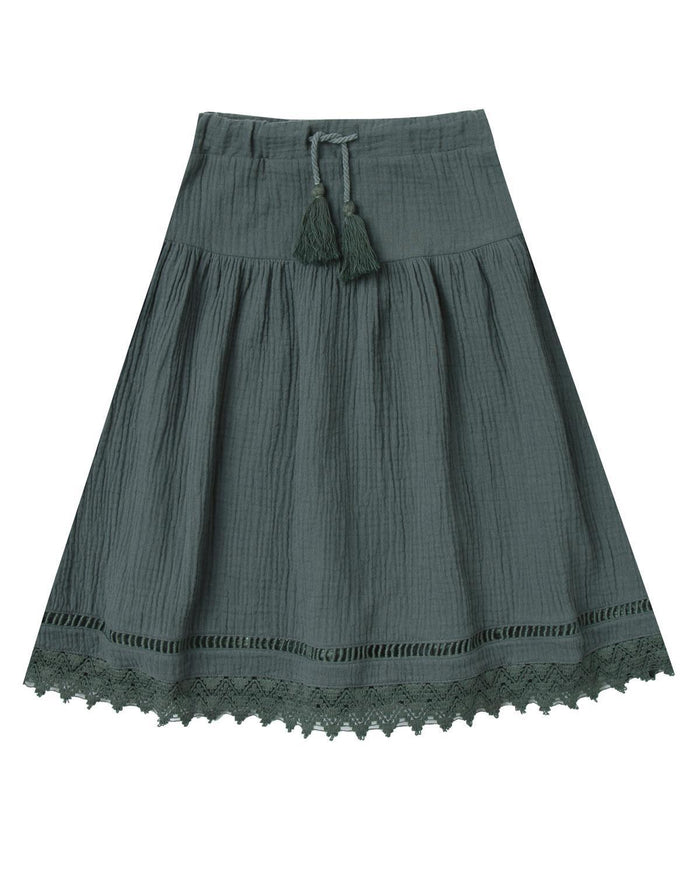 Little rylee + cru girl 2-3 mila maxi skirt in storm