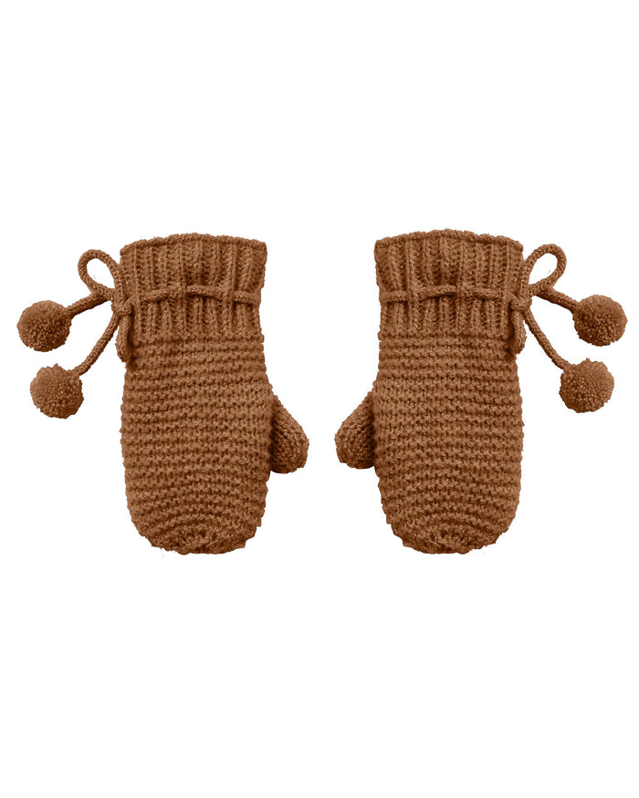 Little rylee + cru accessories mittens in cinnamon