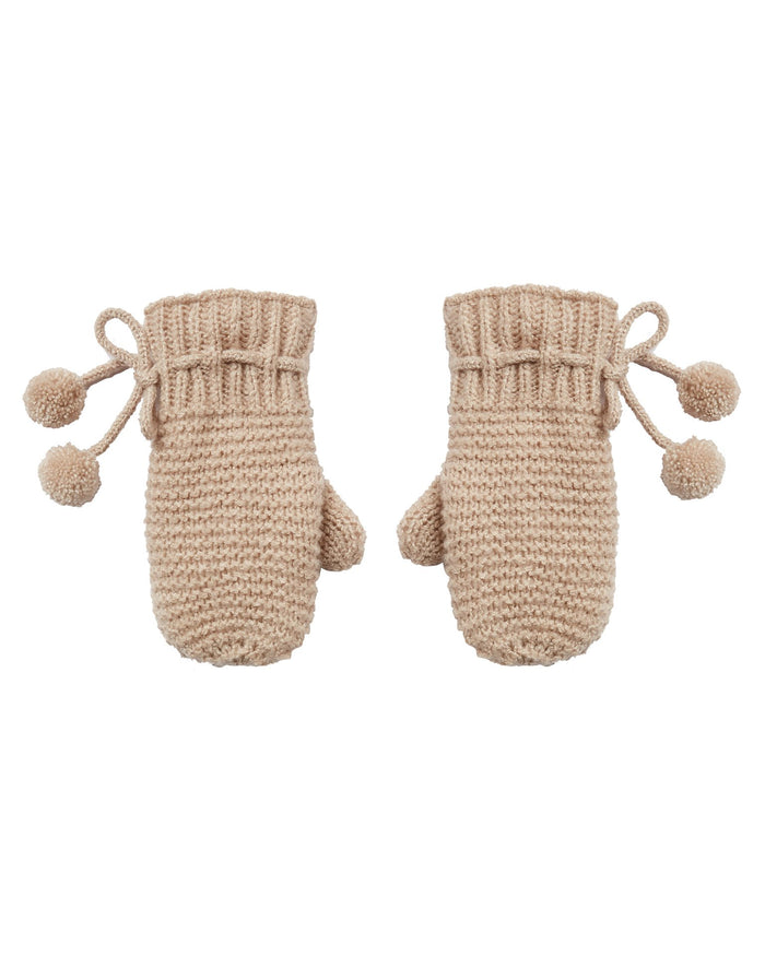Little rylee + cru accessories mittens in oat