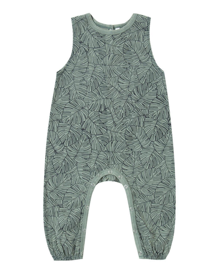 Little rylee + cru baby boy 0-3 monstera mills jumpsuit