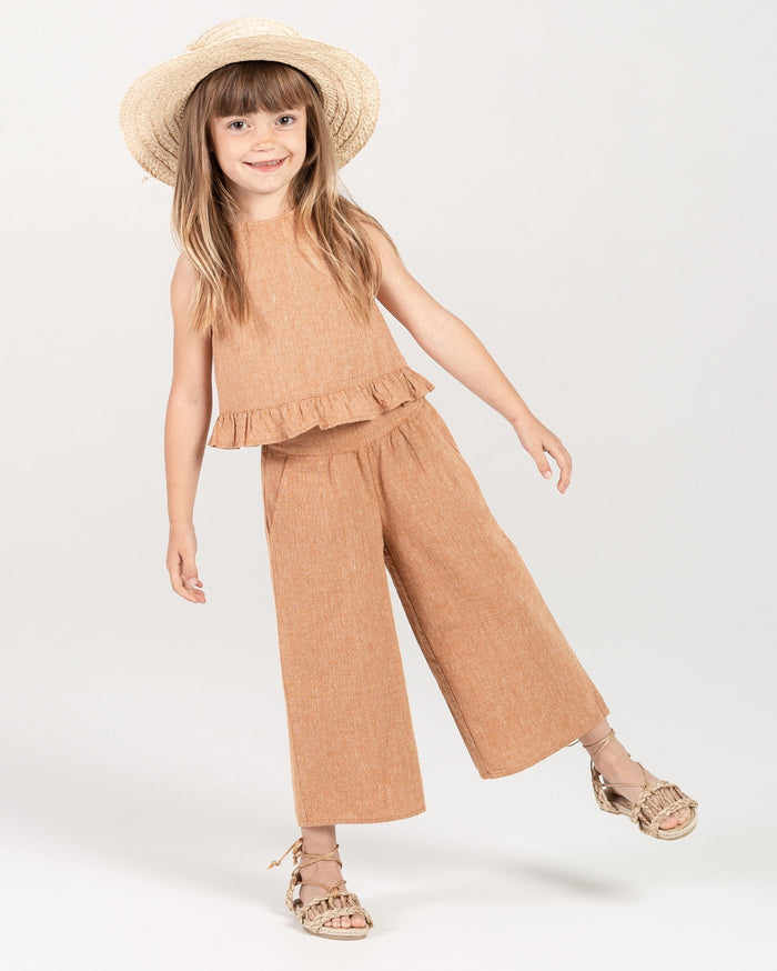 Little rylee + cru girl oceanside top in bronze