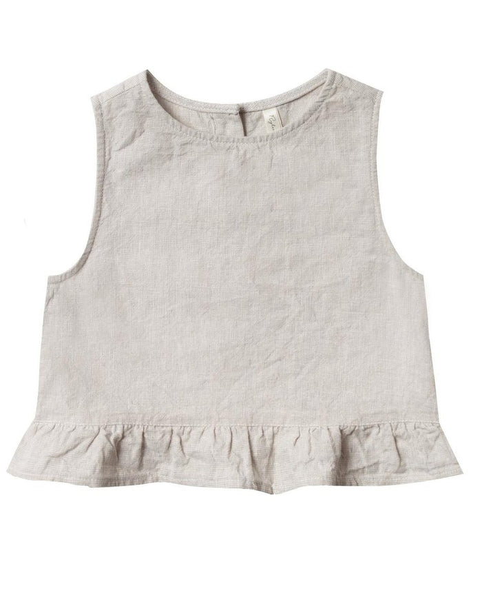 Little rylee + cru girl oceanside top in silver