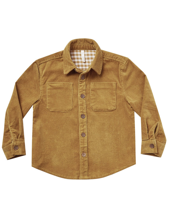 Little rylee + cru baby boy oliver shirt in goldenrod