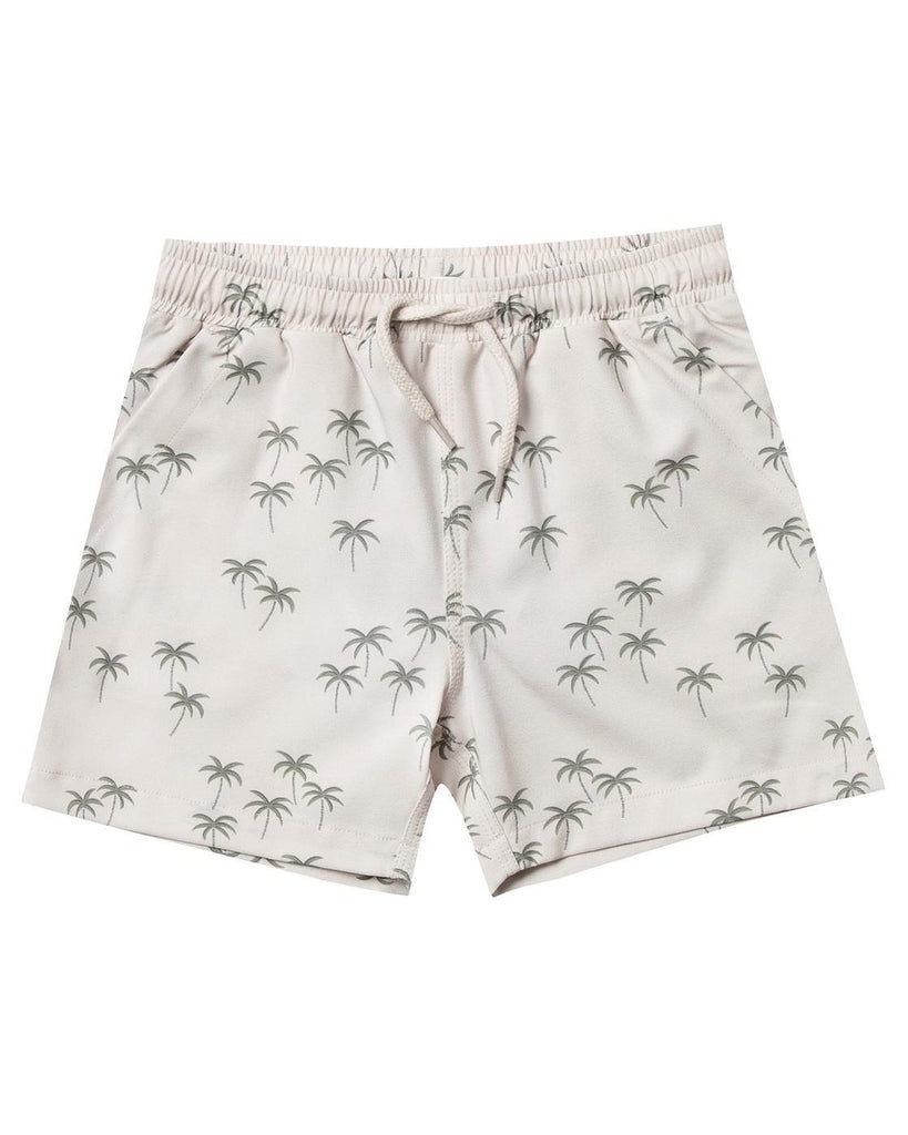 Little rylee + cru boy palm boardshort in natural