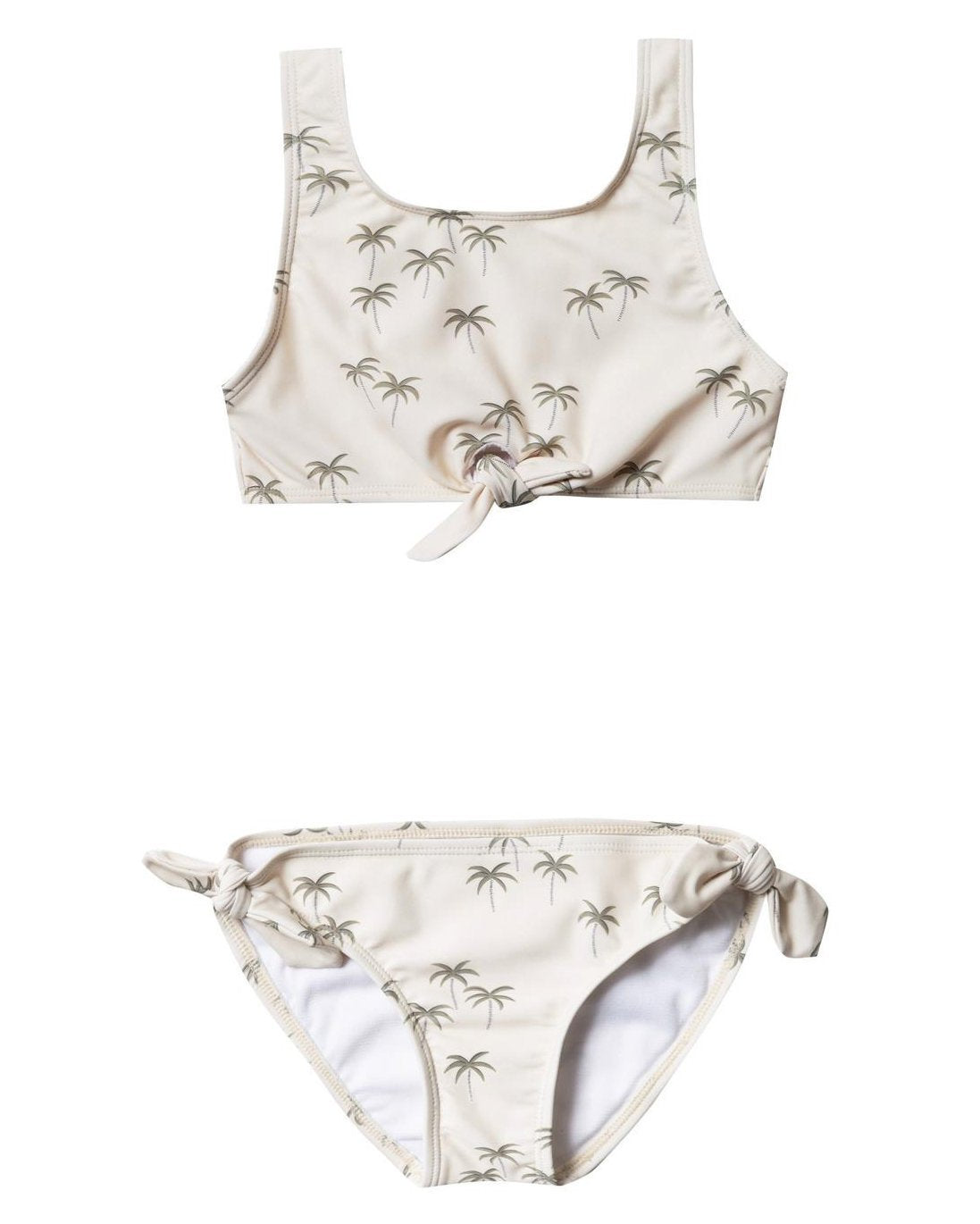 Little rylee + cru girl palm knotted bikini in natural