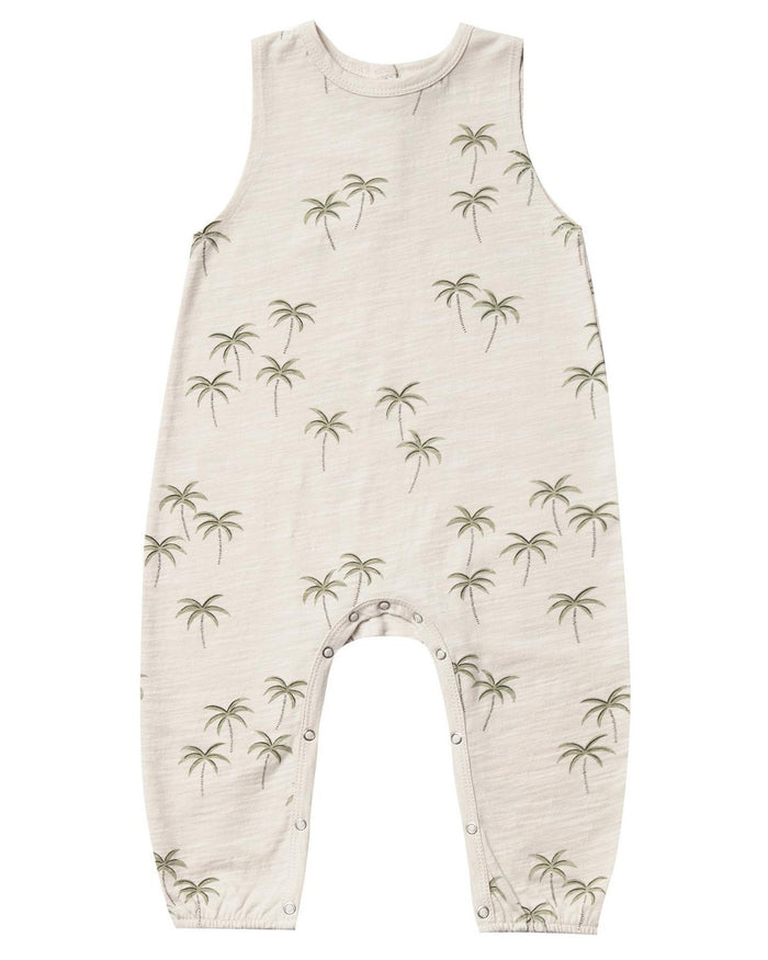 Little rylee + cru baby boy palm mills jumpsuit in natural