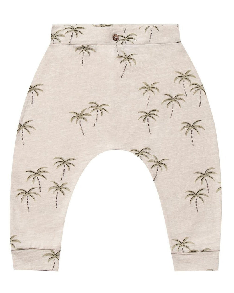 Little rylee + cru baby boy palm slouch pant in natural