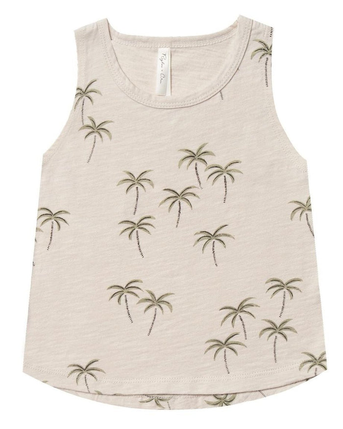Little rylee + cru baby boy palm tank in natural