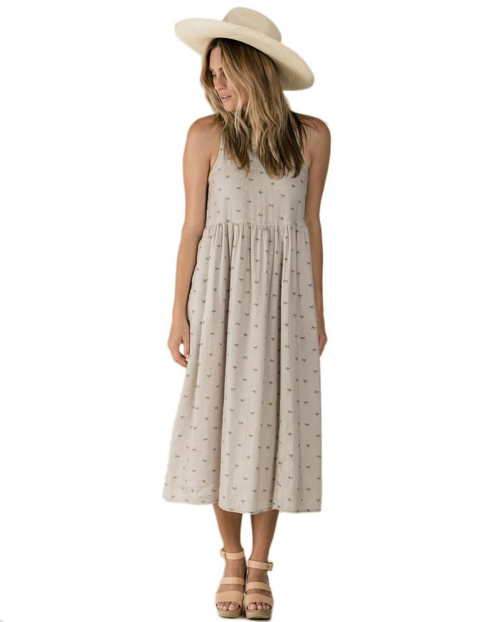 Little rylee + cru women xs palms zoe maxi dress