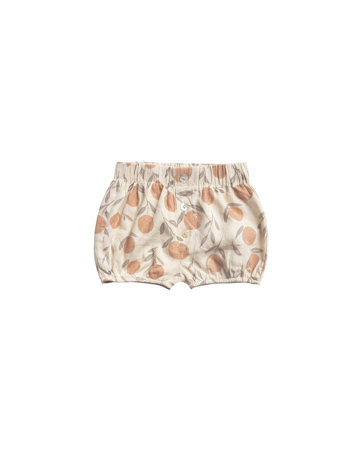 Little rylee + cru baby girl peaches button short
