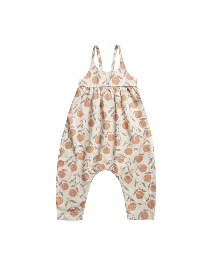 Little rylee + cru baby girl peaches gigi jumpsuit