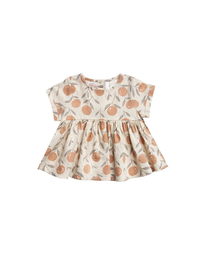 Little rylee + cru baby girl peaches jane blouse