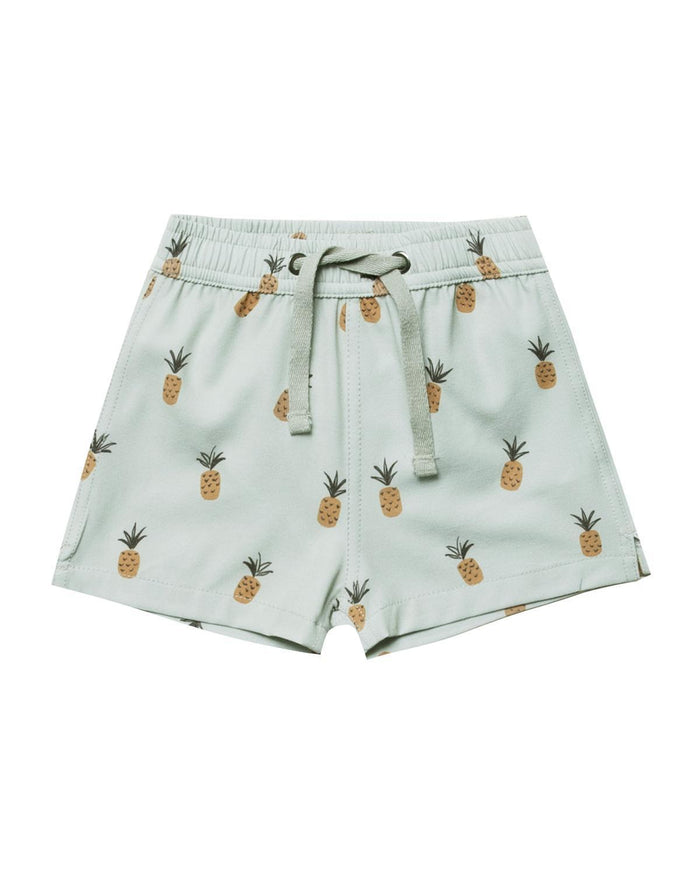 Little rylee + cru boy 2-3 pineapples swim trunk
