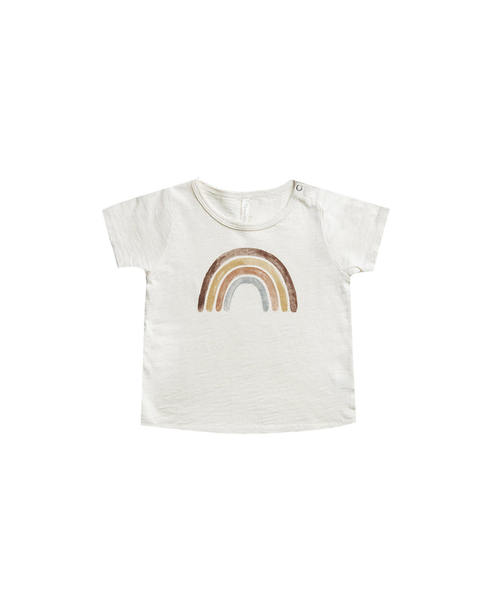 Little rylee + cru baby boy rainbow basic tee