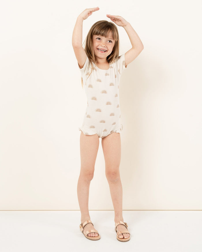 Little rylee + cru girl rainbow sun leotard in natural