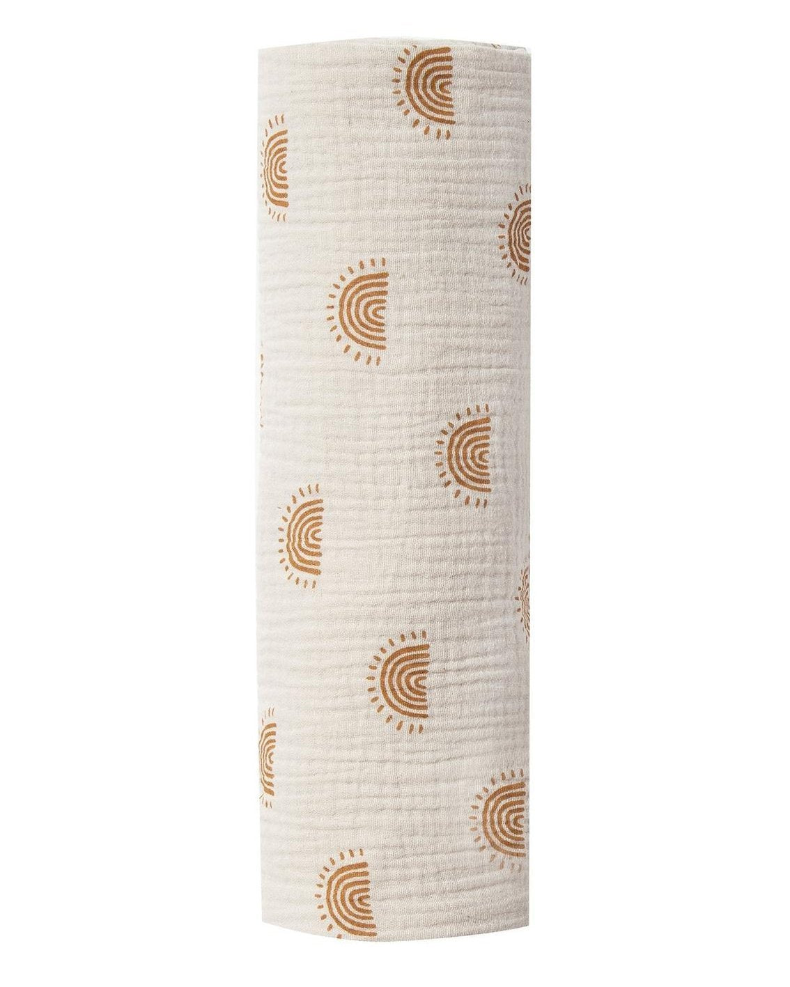 Little rylee + cru baby accessories rainbow suns swaddle in natural