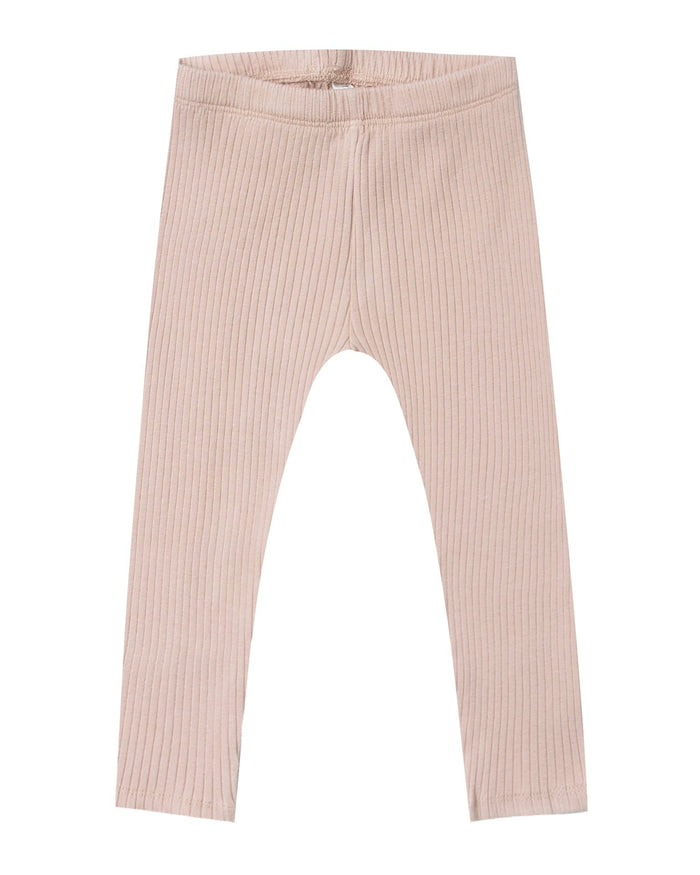 Little rylee + cru girl ribbed legging in rose