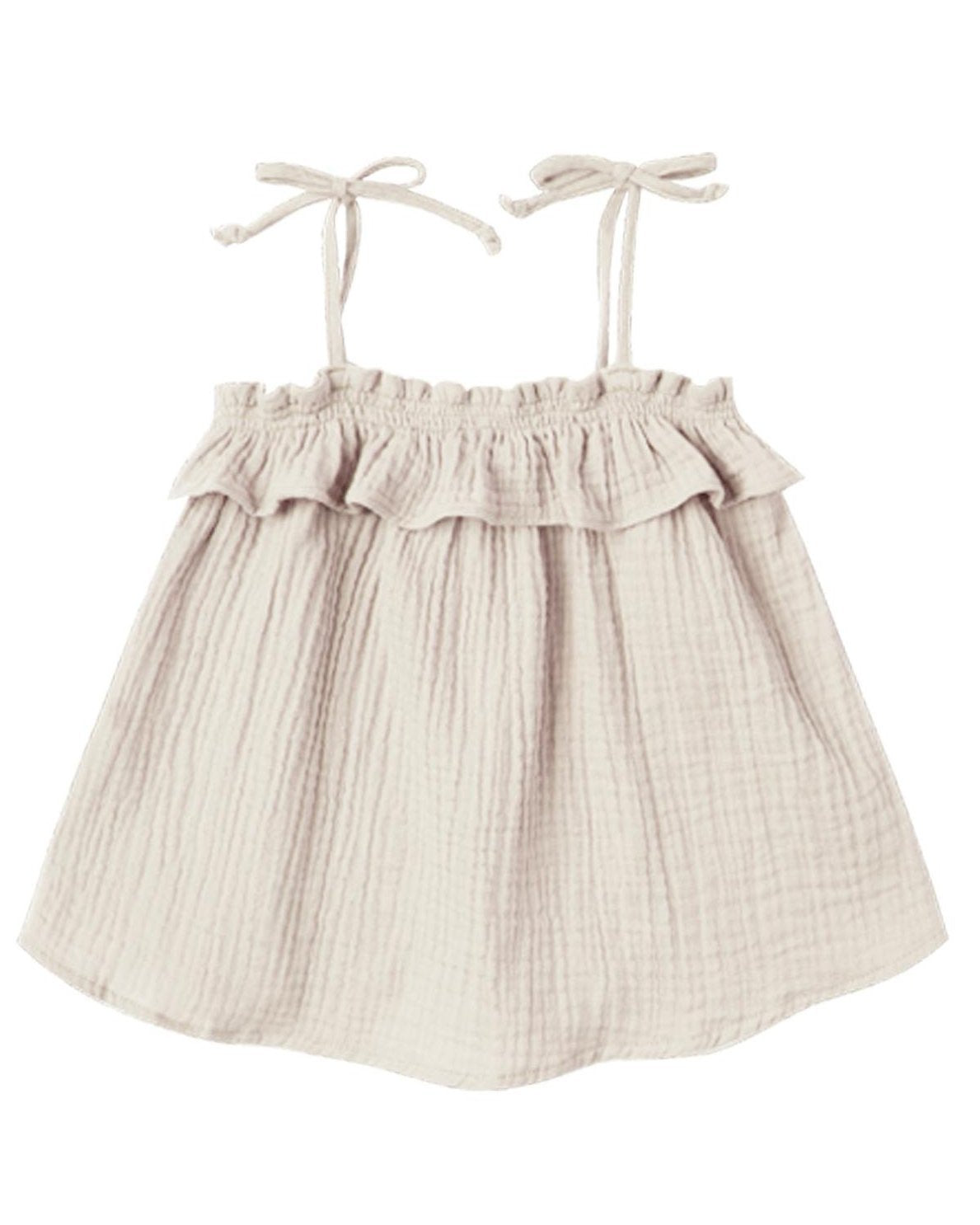 Little rylee + cru baby girl ruffle tube top in natural