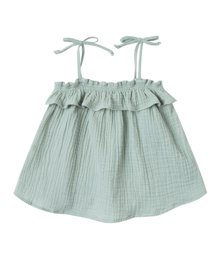 Little rylee + cru baby girl 0-3 ruffle tube top in seafoam