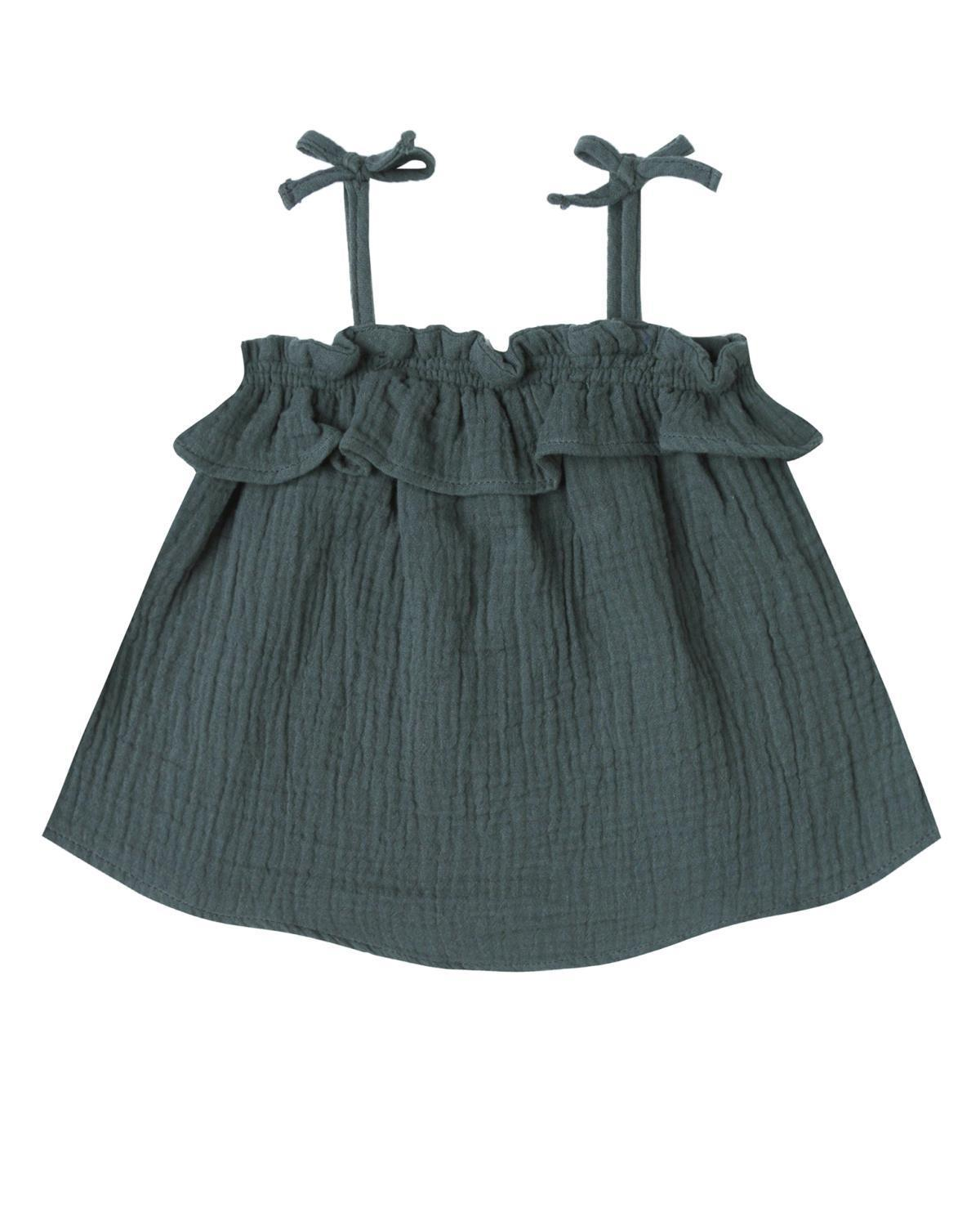 Little rylee + cru baby girl 0-3 ruffle tube top in storm