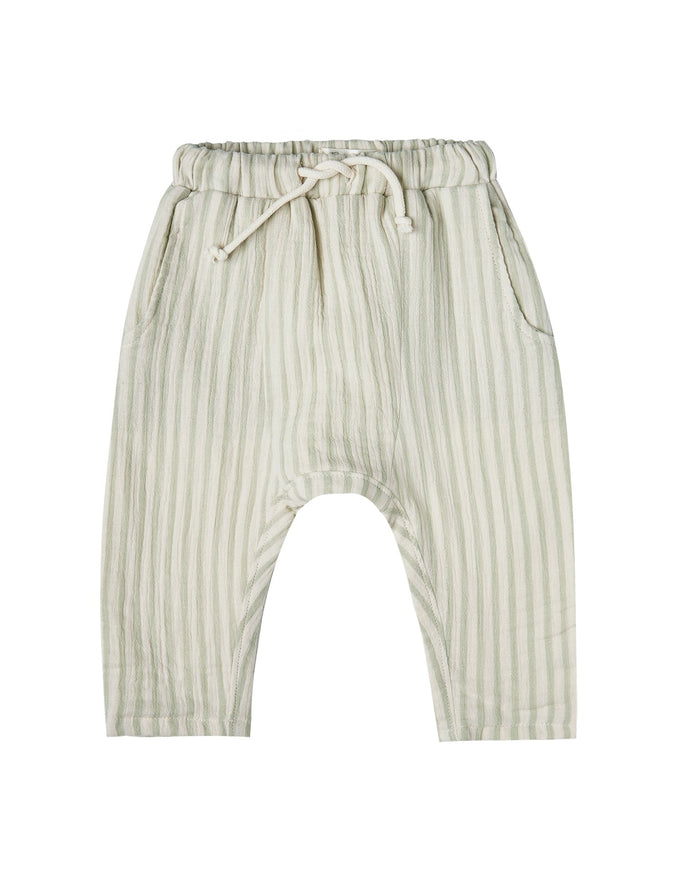 Little rylee + cru baby girl sage striped hawthorne trouser