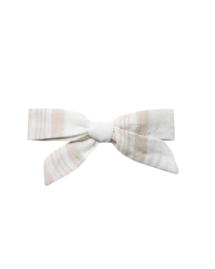 Little rylee + cru accessories sand stripe bow