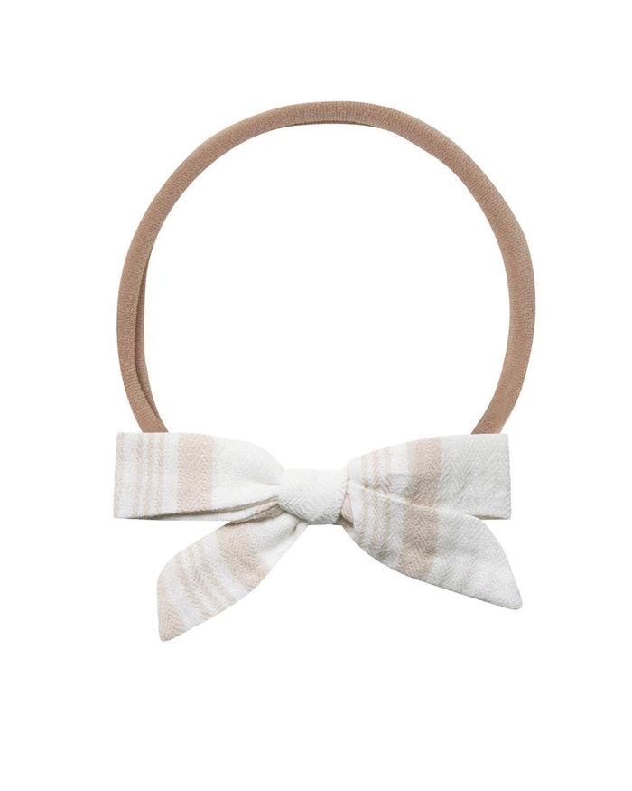 Little rylee + cru accessories sand stripe bow headband
