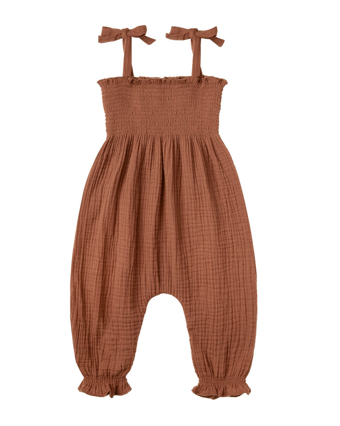 Little rylee + cru baby girl sawyer jumpsuit in amber