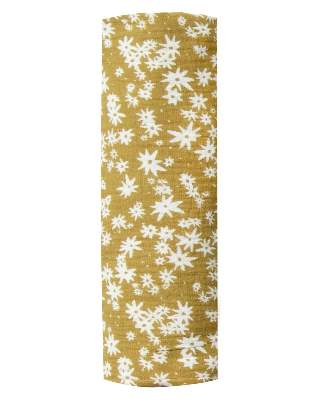 Little rylee + cru baby accessories scattered daisy swaddle in citron