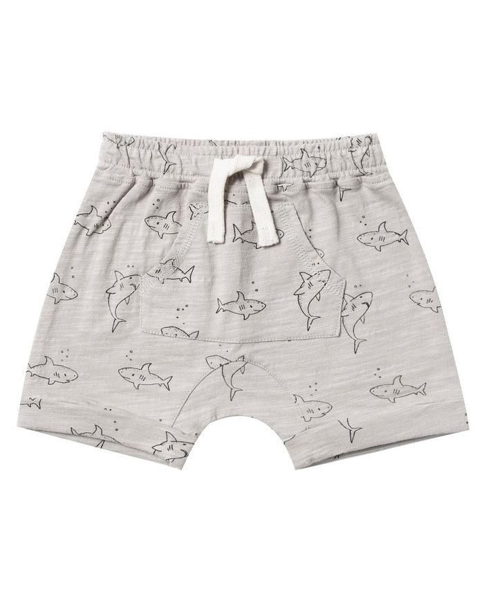 Little rylee + cru boy shark short in dove