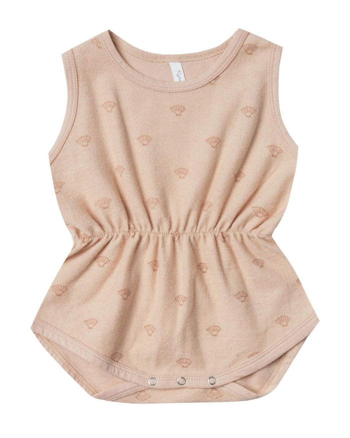 Little rylee + cru baby girl 0-3 shell cinch playsuit