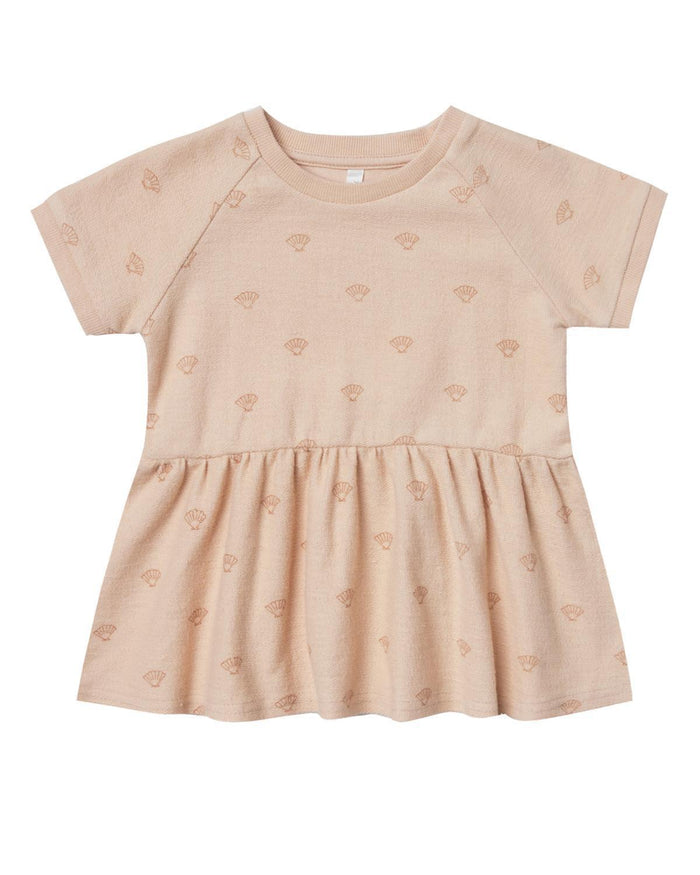 Little rylee + cru baby girl 0-3 shell raglan french terry dress