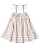 Little rylee + cru girl shoulder tie dress in petal stripe