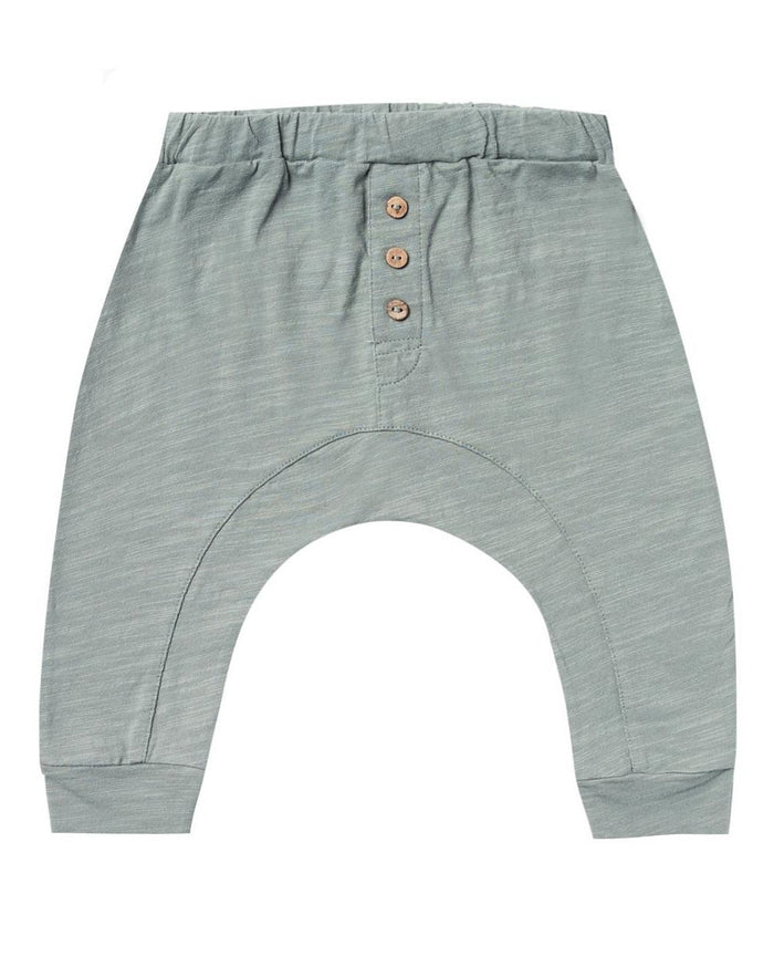 Little rylee + cru baby boy slub pant in sea