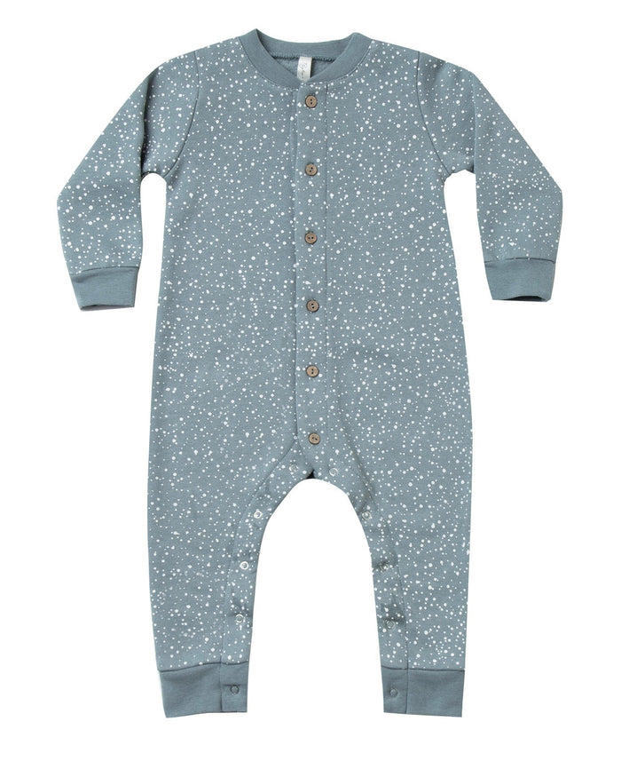 Little rylee + cru baby boy snow long john in dusty blue