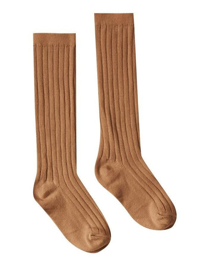 Little rylee + cru accessories solid ribbed socks in bronze